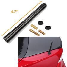 "4.7"" Universal Black Real Carbon Fiber Aluminum Short Screw-On Mast Car Antenna"
