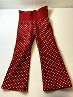Oshkosh BGosh Girls 3T Pants Red White Polkadot High Waste Elastic Stretch