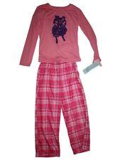 NEW Girl Circo Pink Puppy Dog Pajamas Long Pants Shirt Sleep Set Size 7/8