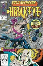 Solo Avengers Hawkeye Comic Issue 18 Copper Age First Print Mackie Wilson Heck