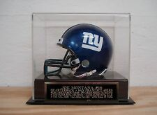 Football Mini Helmet Display Case With A Joe Montana 49ers Engraved Nameplate