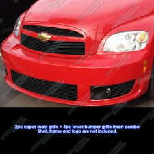 Fits 2006-2010 Chevy HHR SS Billet Grille Grill Insert Combo With Fog Light