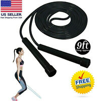 US Boxing Skipping Rope Jump Rope Gym Aerobic Exercise Adjustable Speed Fitness
