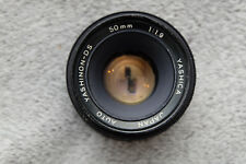 YASHICA YASHINON 50mm 1.9 Prime Lens for M42 fit