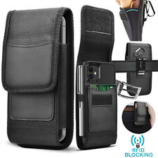 Cell Phone Holster Pouch Nylon Wallet Case with Belt Clip for Samsung iphone LG