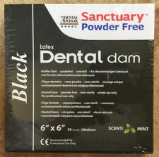 BLACK Sanctuary Latex Dental Dam Rubber 6X6 Medium Mint 36/PK--QUALITY GUARANTEE