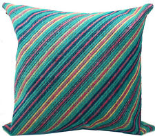 MISSONI HOME St TROPEZ T70 CUSHION COVER VELVET LINEN BLEND  40x40cm 16x16""