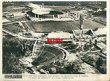 Photo de presse Photo Jeux Olympiques 1936 Berlin Stade chantier Olympische