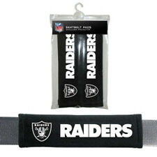 Oakland Raiders Seat Belt Pads 2 Pack [NEW] Auto Car Seatbelt Shoulder NFL CDG