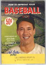 Bob Feller Autograph book How to Improve Your Baseball