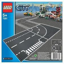 LEGO City T-Kreuzung und Kurve Legoplatte Spielzeug Bausteine Kinder