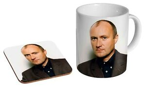 Phil Collins Early - Coffee / Tea Mug And Coaster Gift Set