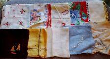 Vintage Lot of (10) Ladies Handkerchiefs Various Styles & Colors Hankies Lot #3