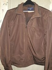 Dockers Mens XL Tan Stain Defender All Weather Coat Jacket Lined