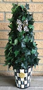 MY OWN HP Courtly IVY Topiary Tree with MacKenzie-Childs Ribbon Bow (B)