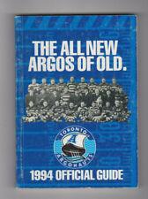 1994 Toronto Argonauts CFL Media Guide