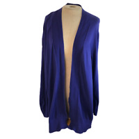 Lane Bryant Open Front Cardigan Sweater Purple 22 / 24