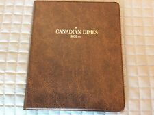 Canadian Dime album 1858 - 1928, Harco Coin Master #60657 with 3 pages