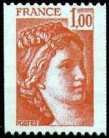 """FRANCE STAMP TIMBRE N° 1981 """" SABINE DE ROULETTES 1F ROUGE """" NEUF xx LUXE"""