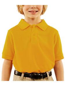 George Boys School Uniform Short Sleeve Polo Shirt 6-7, 8, 10-12, 14-16, 18 XXL