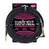Ernie Ball 10' Braided Straight/Angle Instrument Cable Black w/Gold conn P06081