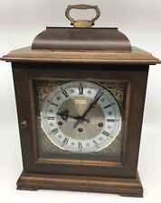 Hamilton Mantle Clock Silent Chime 2 Two Jewels West Germany Vintage Wooden