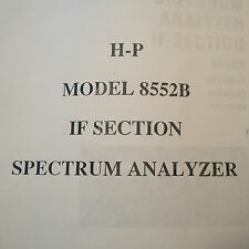 HP Hewlett Packard 8552B Spectrum Analyzer IF Operator & Service Manual