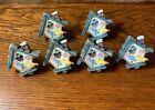 6 VINTAGE POLY RESIN MINIATURE BIRDHOUSE DRAWER PULLS