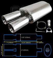 UNIVERSAL PERFORMANCE FREE FLOW STAINLESS EXHAUST BACKBOX YFX-0699  FRD1