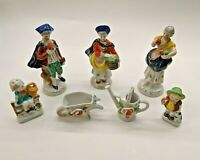Set of 7 Vintage Porcelain Figurines Made in Occupied Japan