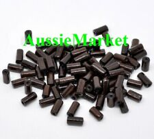 100 x wooden wood beads cylinder dark coffee mixed sizes loose spacer 2mm hole