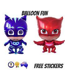 2x PJ MASKS Jumbo  CATBOY & OWLETTE Helium  Foil Balloons 68cm PARTY SUPPLIES