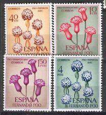 FERNANDO POO Edifil # 255/258 flowers / flowers
