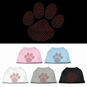 Red Paw Rhinestud Dog Cat Pet Puppy Shirt