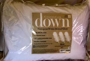 CHARTER CLUB EUROPEAN WHITE DOWN PILLOW FIRM SUPPORT QUEEN $220