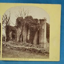 1860s Stereoview Photo Raglan Castle South West Gate And Watch Tower