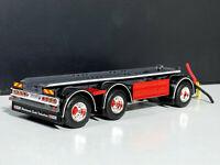 drawbar flatbed trailer 3 axle ,WSI truck models 04-2091,1:50 scale