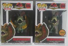 Funko POP Dilophosaurus & CHASE Frill Turcked #550 Jurassic Park Vinyl Figures