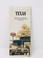 Vintage 1972 Edition Texaco Texas State Street Travel Road Map Folded