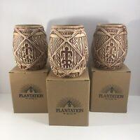 Plantation Rum Bai Tiki Barrel Mug Original Box Lot of 3