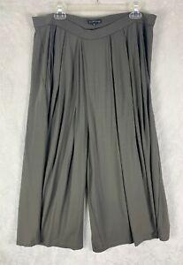 Eileen Fisher Size Medium Gray Tan Pants Flowy Boho