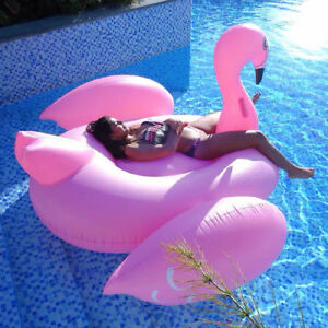 Inflatable Giant Unicorn Duck Rose Gold Flamingo Swimming Pool Toy Kids Gift fp0