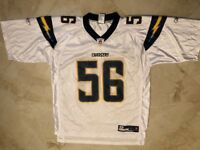 Shawn Merriman #56 Los Angeles Chargers Throwback Jersey Large White Reebok NFL
