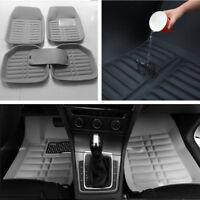 Auto Fußmatten Grau PU Leder Vorne und Hinten Liner Wasserdichte Teppiche Pads