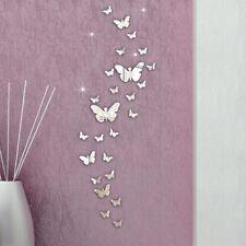 Décorations murales et stickers argentés moderne en miroir pour la maison