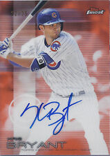 KRIS BRYANT 2016 TOPPS FINEST ON CARD AUTO ORANGE REFRACTOR 12/25! FREE SHIP!