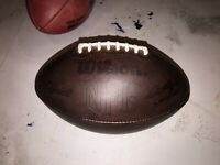 Nice Dark Broken-in Wilson Leather Official NFL Game Football 1960-89 Nice Feel!