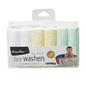 Reusable Face Wipes / Washers. Mum 2 Mum, Washable, 6 Pack.100% Cotton BNWD