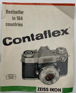 Contaflex Zeiss Ikon Camera Advertising Brochure Vintage Original 21-49