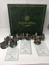 9 Piece New Bradford Edition Thomas Kinkade Illuminated Lighthouse Collections